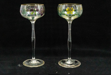 Set of a Pair of Decanters with 12 Matching Wine Glasses Val St. Lambert Hand-Cut Crystal, Belgium 20th Century (c. 1950s)