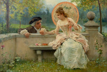 A Tender Moment in a Garden', by Federico Andreotti