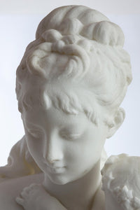 Le Retour des Champs 'Return from the Harvest' Carrara Marble, by Albert-Ernest Carrier-Belleuse