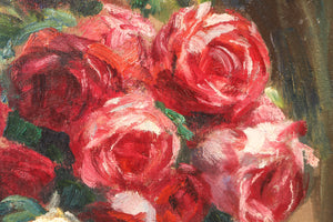 Beautiful Flower Bunches, Oil on Canvas