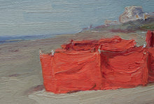 Beach Scene with Orange Tent Katwijk Aan Zee, Holand, Andre Krigar
