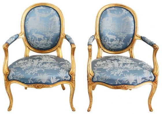 French 18/19th century Louis XVI style chairs.