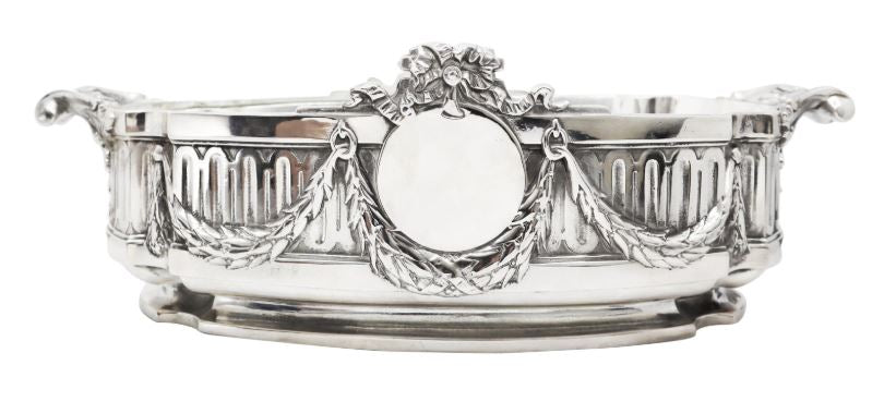 Silver Plated Jardinière, Late 19th Century French