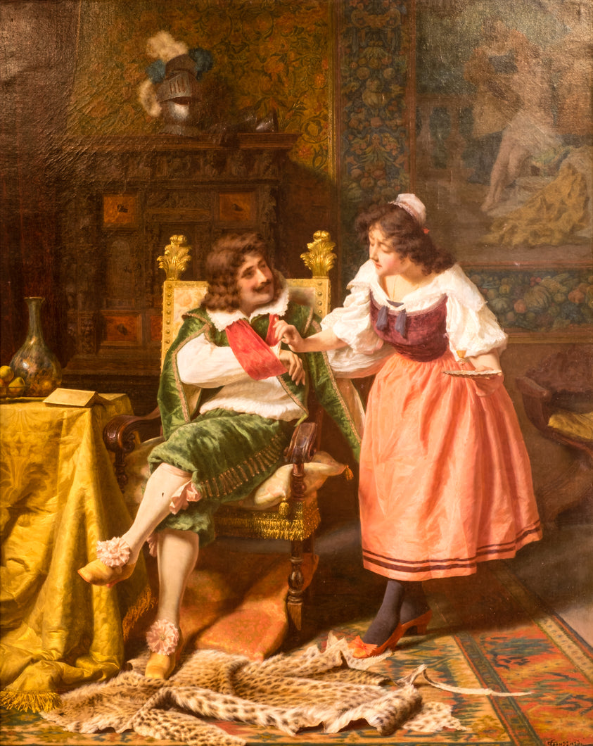 An Interior Scene, Oil on Canvas, 19th century