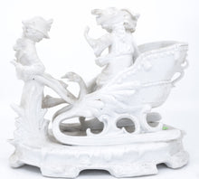 Bisque, children in chariot, french 19th to 20th century