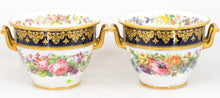 Pair of Porcelain Vases, Hand Painted French 19th Century, Mark for Sevres