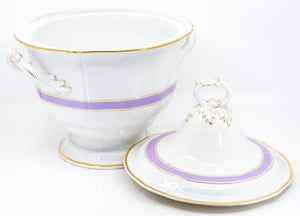 Dinner Service Lavender Color, Limoges, French First Half of the 20th Century