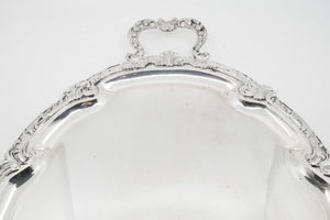 Serving Silver Tray, German Late 19th-Early 20th Century, Silver 800