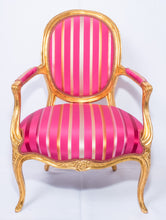 Pair of Louis XVI Style Magenta Armchairs. French, Early 20th Century