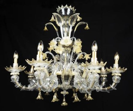 Chandelier Murano Crystal 19th Century, Italy