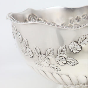 Punch Bowl Silver-Plated, English, Mid-20th Century.