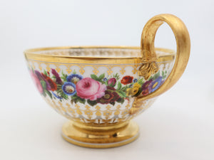 Early 19th Century, Soup Bowl, French Hand Painted Sevres Porcelain
