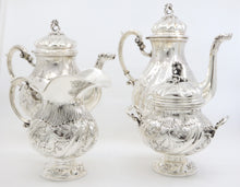 Late 19th Century, German Silver Plated, Tea and Coffee Service