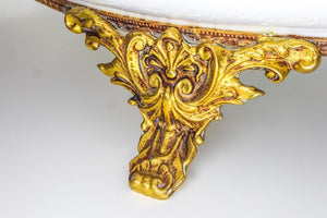 Serving Ormolu Plate Mounted, Italian 19th Century, Marked for Tiche