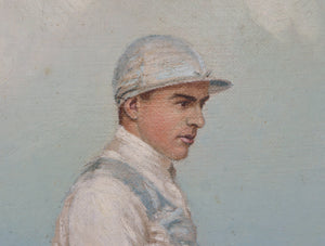 Portraits of a Jockey and Racehorse