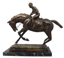 Bronze Equestrian Statue of a Jockey on His Horse 19 Century