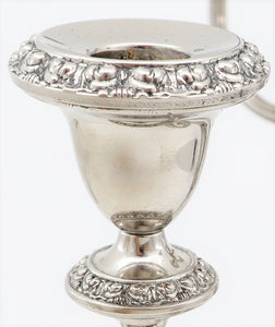 English Late 19th Century, Silver Plated Candelabra