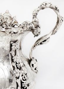 Massive French Late 19th Century Silver Plated Vase, Napoleon Period, Christofle
