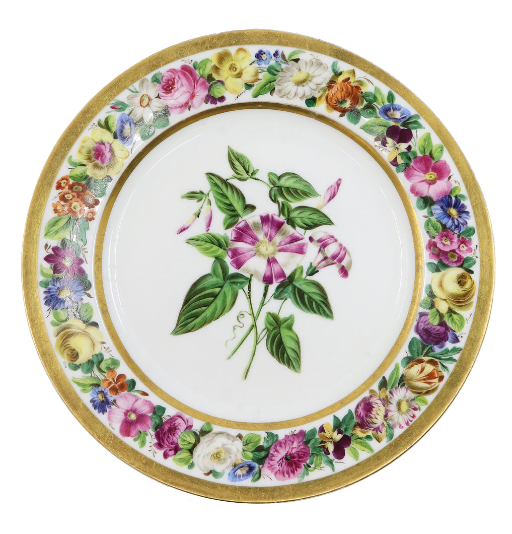 Paris Plate, 19th Century French Porcelain, Denuelle