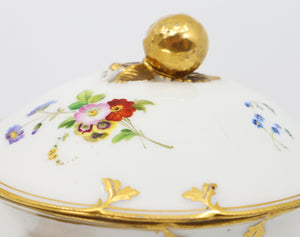 Hand painted porcelain bowl, French