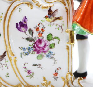 Hand painted porcelain, 2 valets and a couple, 19 century, Vienna Austria.