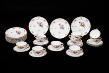 Set of Tea Services and Serving Platters German Porcelain Hand-Painted with Flowers Décor, 19th Century