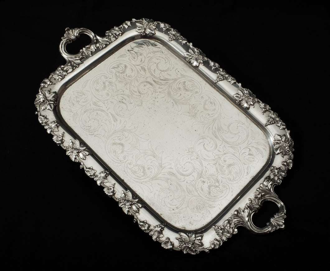 Silver Tray (large)  English, late 19th century