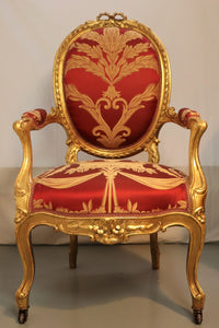 Louis XV Style Grand Salon ' Sofa and two Armchairs ' 19th Century, circa 1870