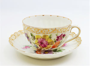 Set of Tea and Coffee Services, 19th Century, Porcelain Hand-Painted, Germany