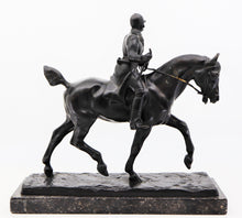 Equestrian Statue of a Huntsman, by Gaston D'Illiers (France)