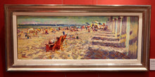 Oil on Canvas Beach Scene, Leon Holmes