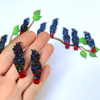 Resin Black Cockatoos