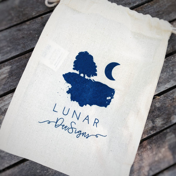 Lunar Dee branded Calico Bag