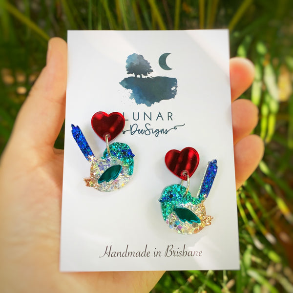 Sid the Superb Fairy Wren - LIMITED EDITION STUD DANGLE