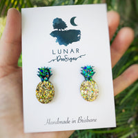 Pineapples - Traditional Gold and Green