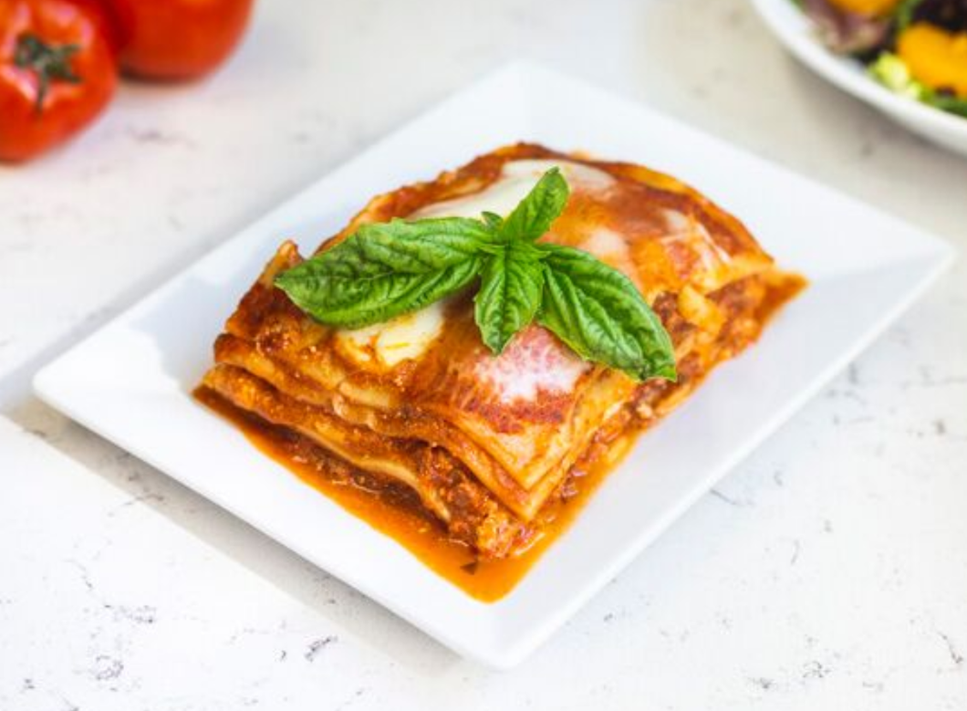 Meat Lasagna by the pan  – 8 Small pieces per pan at $4.25 per piece - Mambellas Market