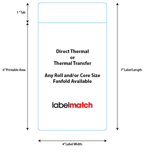 4 Inch X 7 Inch Thermal Transfer and Direct Thermal Labels
