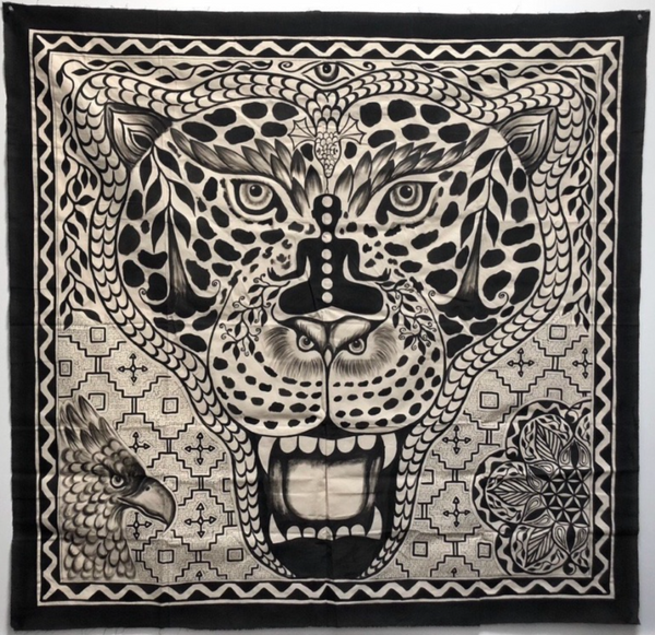 Shipibo Icaros Tapestry Painted Jaguar