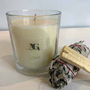 LOVE - Crystal Infused Candles