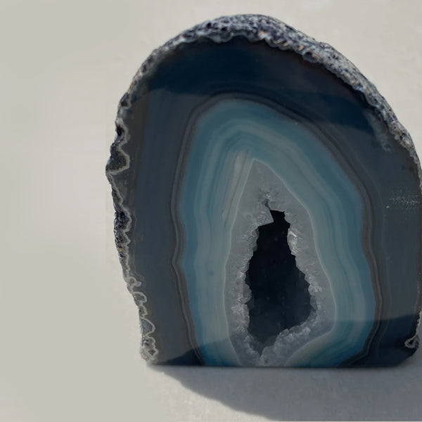 AGATE GEODE -  Blue Dyed