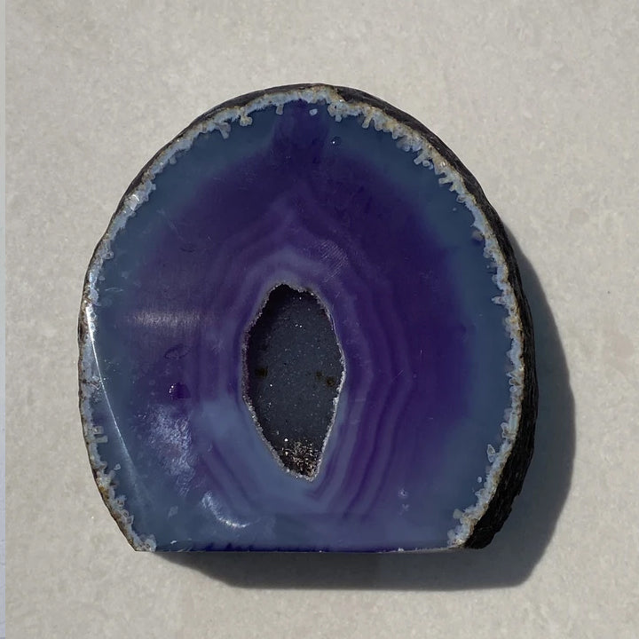 AGATE GEODE -  Purple Dyed