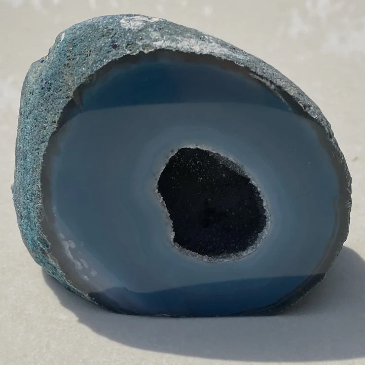 AGATE GEODE -  Blue Dyed Stone