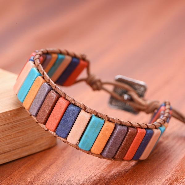 Multicolor Natural Stone Bracelet