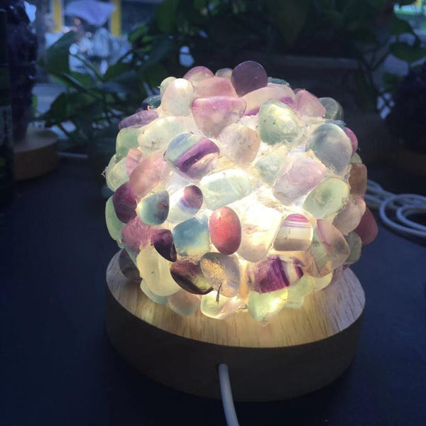 Beautiful Natural Crystal Lamp