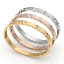 Love Crystal Cuff Stainless Steel Bracelets