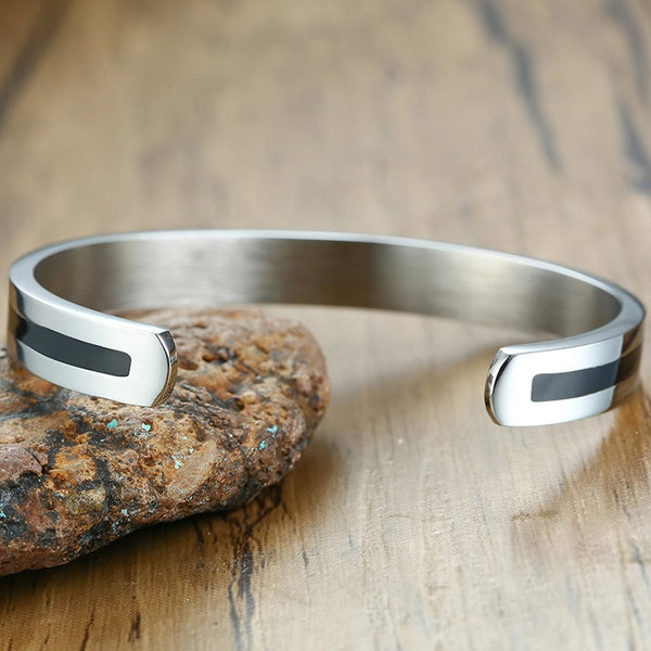Cuff Stainless Steel Bangle Bracelet
