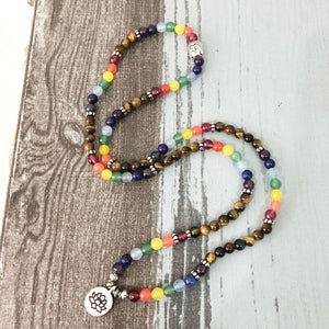 Lotus Flower Chakra Beaded Necklace