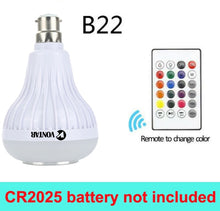 Chromotherapy Light Bulb with Bluetooth Connection