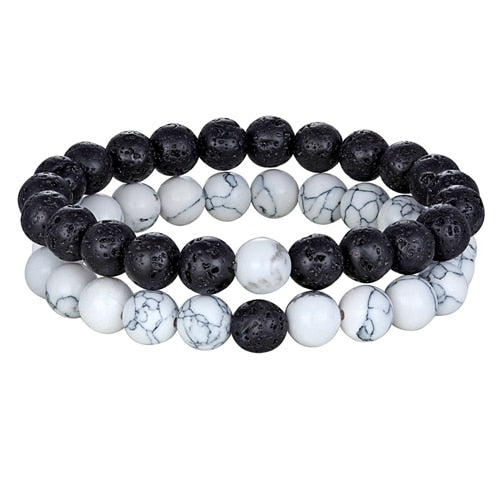 Yin and Yang Crystal Healing Bracelet