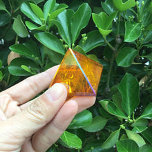 Natural Amber Crystal Healing Pyramid